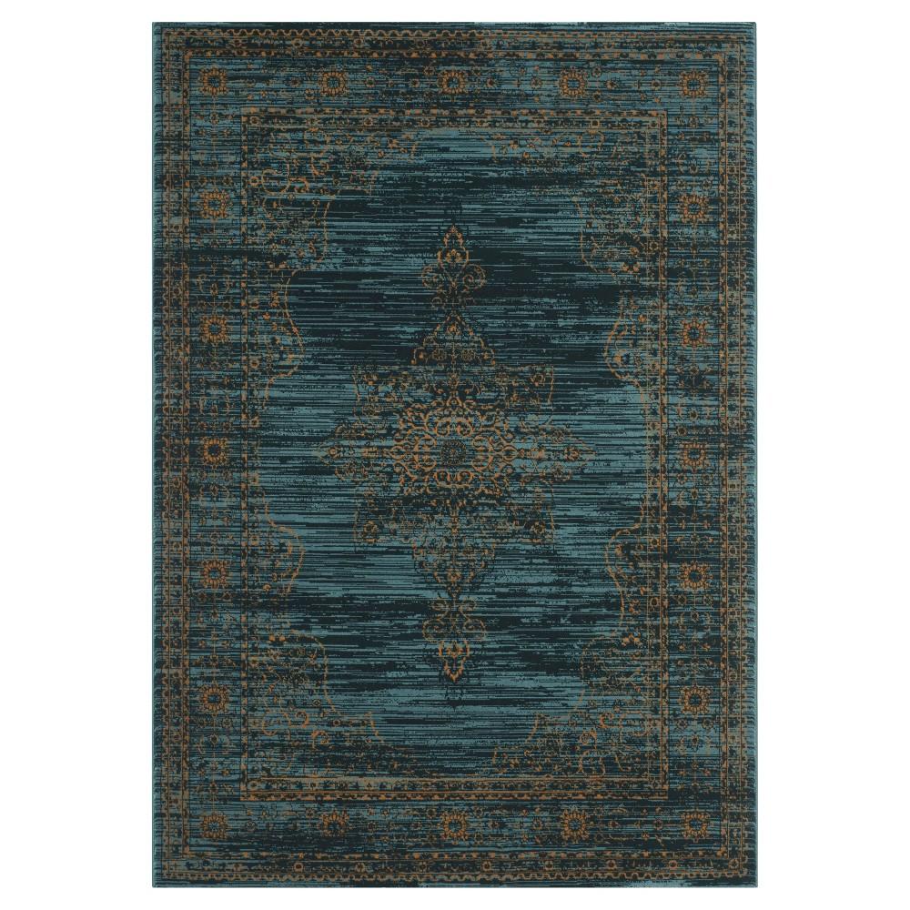 6'X9' Ombre Design Area Rug Turquoise/Blue - Safavieh
