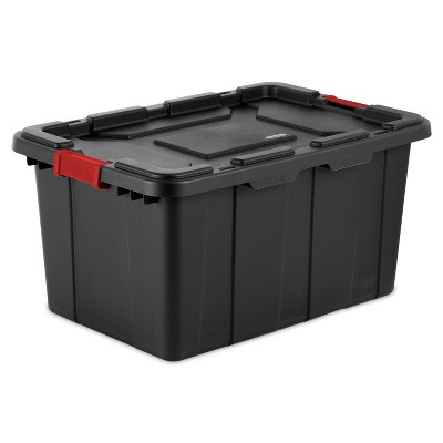 Sterilite 27gal Industrial Utility Storage Tote Black With Lid