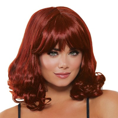 Mid Length Curly Wig Halloween Costume Wearable Accessory
