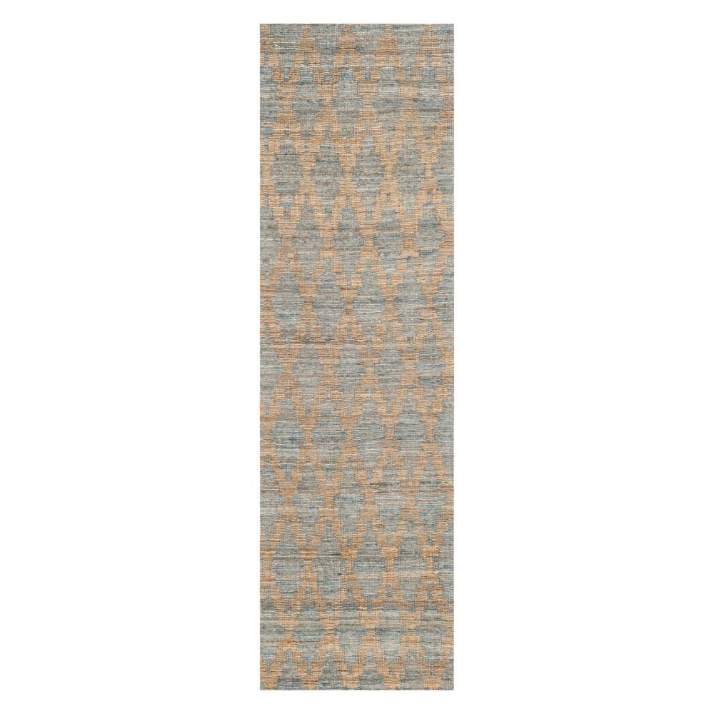 2'2X8' Tribal Design Woven Runner Light Blue/Gold - Safavieh