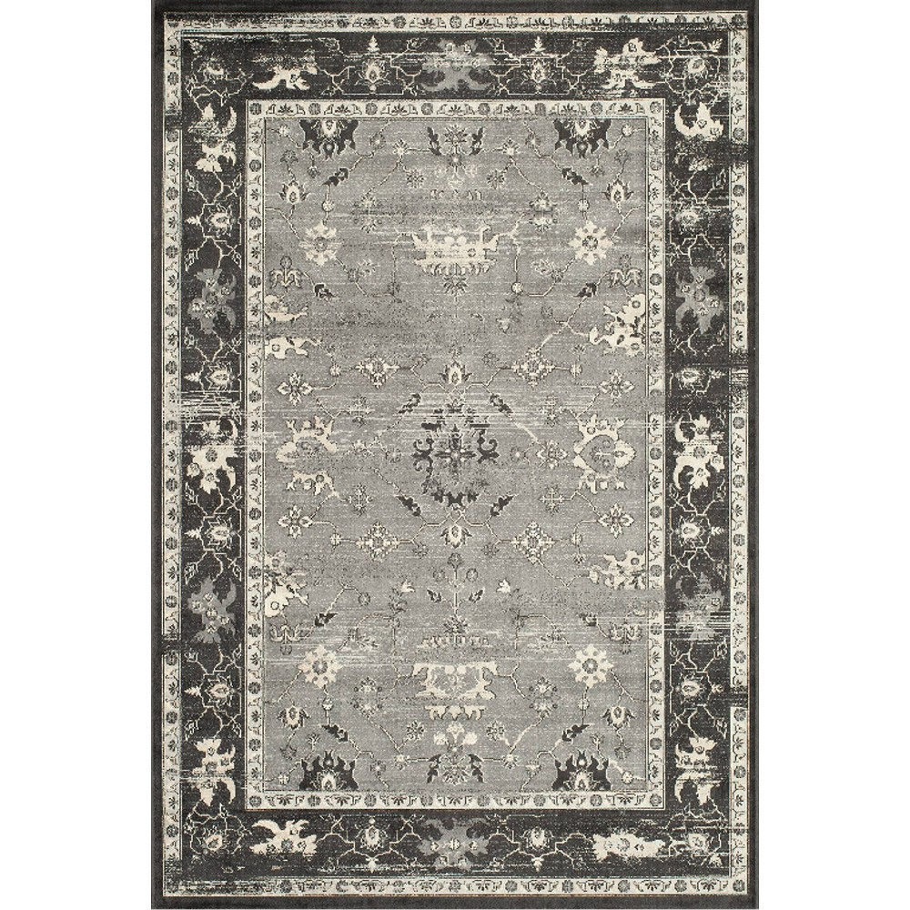 5'X7'6 Ombre Design Area Rug Charcoal (Grey) - Momeni