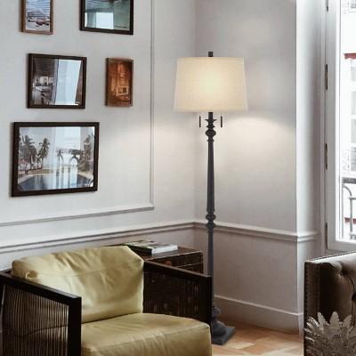 "63"" Resin Traditional Floor Lamp Rustic Iron - Cal Lighting"