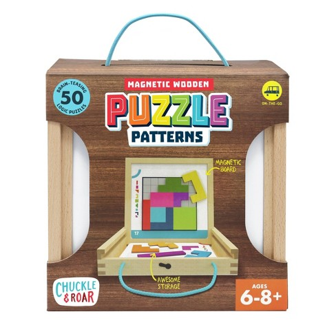 Chuckle & Roar Magnetic Wooden Puzzle Patterns - Kids Logic Puzzles - image 1 of 4