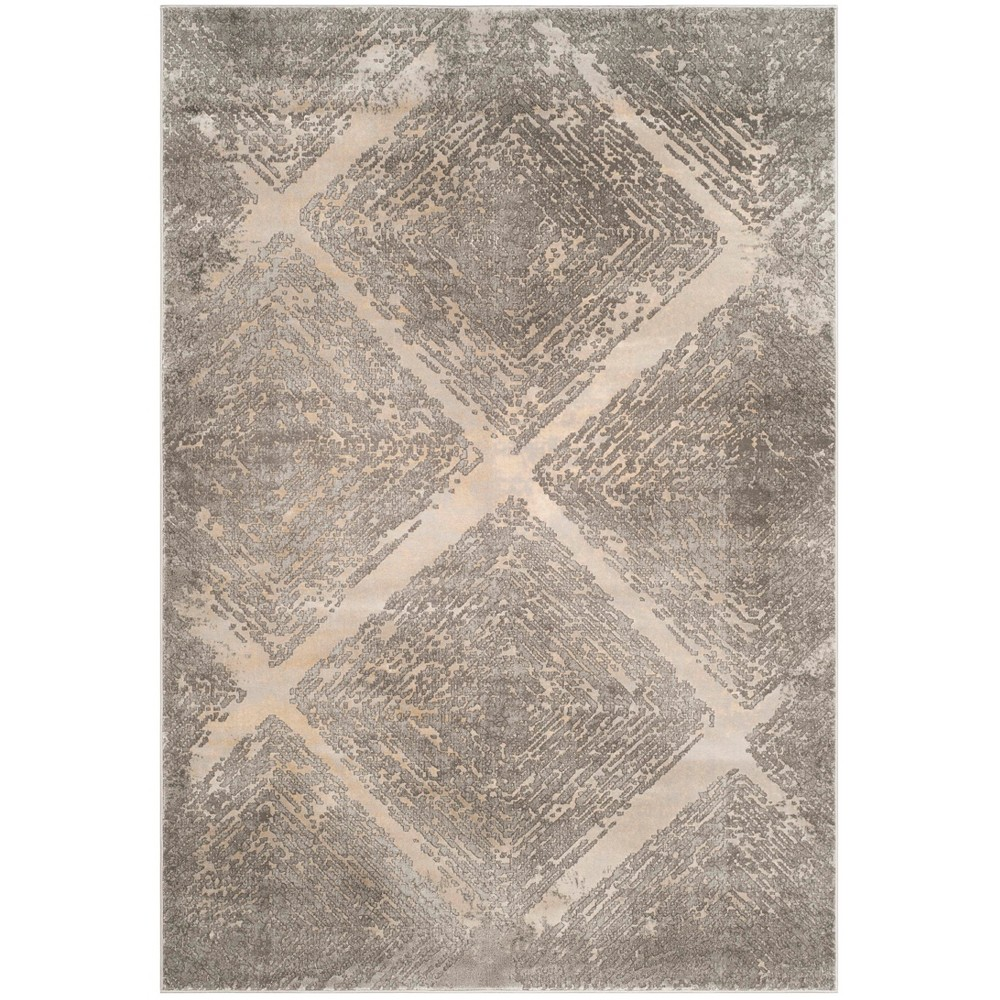 6'7X9' Loomed Shapes Area Rug Taupe - Safavieh, Gray
