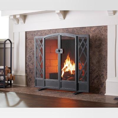 Fireplace Screen Threshold Black Brass - Threshold™