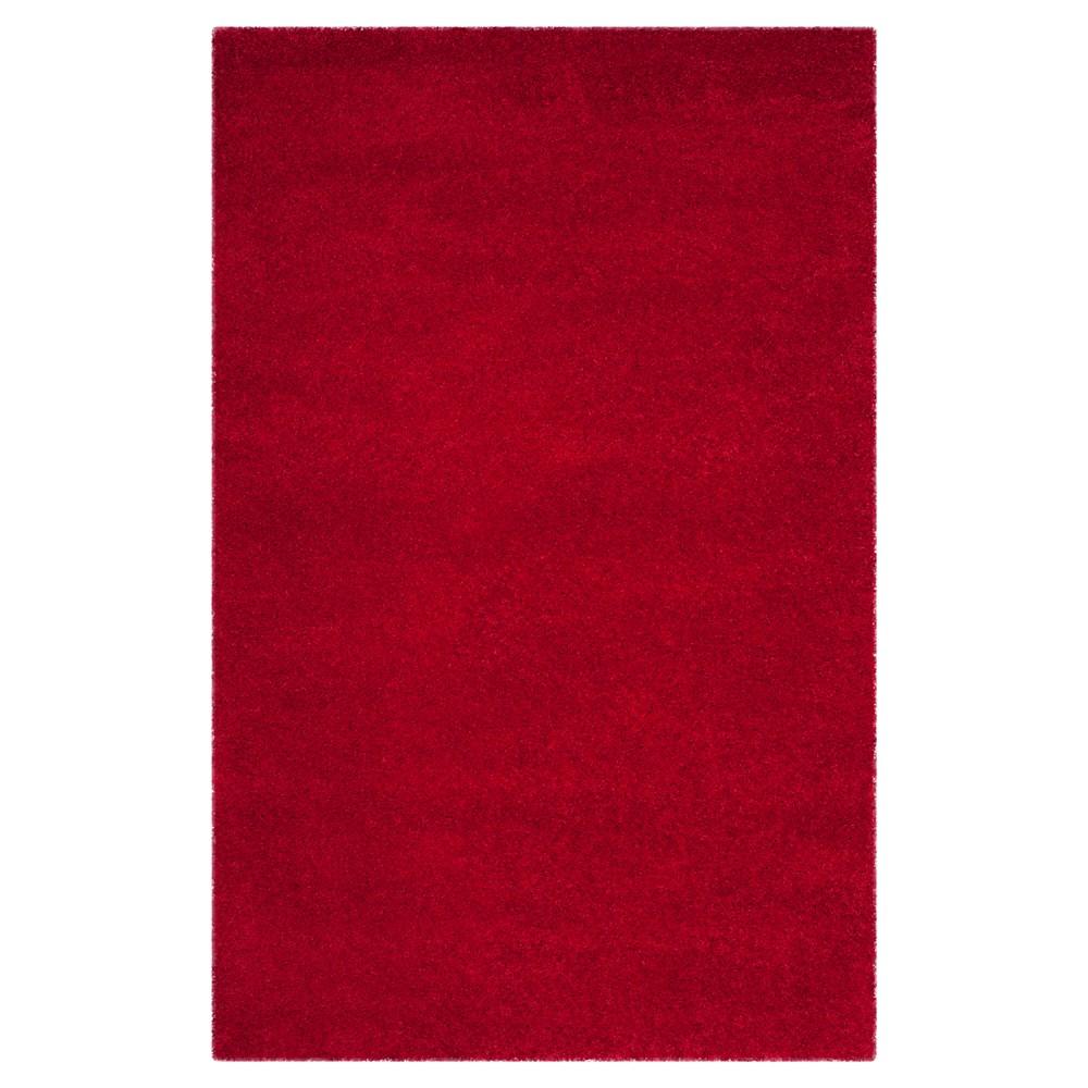 Red Solid Shag/Flokati Loomed Area Rug - (8'6X12') - Safavieh