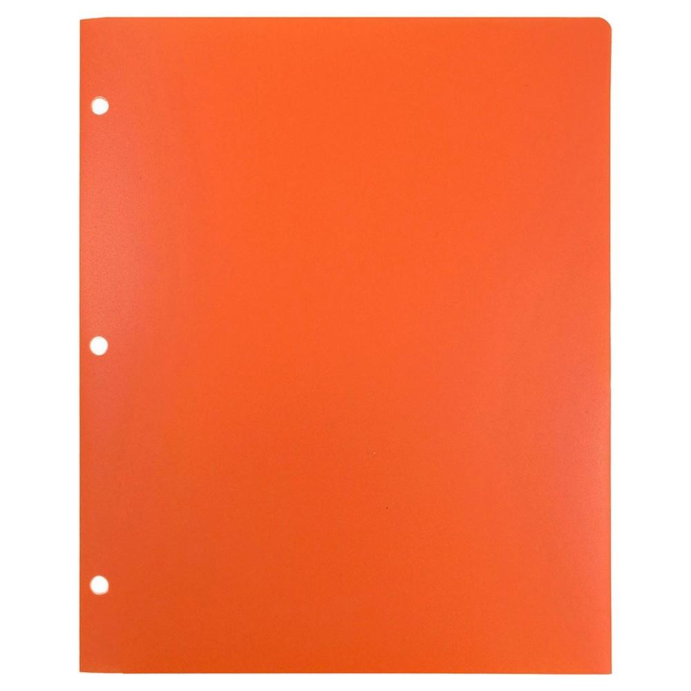 Image of JAM Paper Heavy Duty 6pk 2 Pocket Paper Folder - Orange, Orange Smoothie