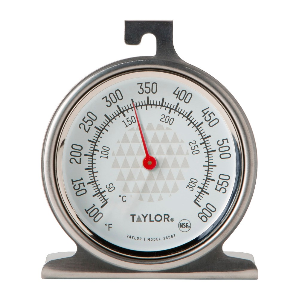 Image of Taylor Ambient Oven/Grill Temperature Thermometer, Silver