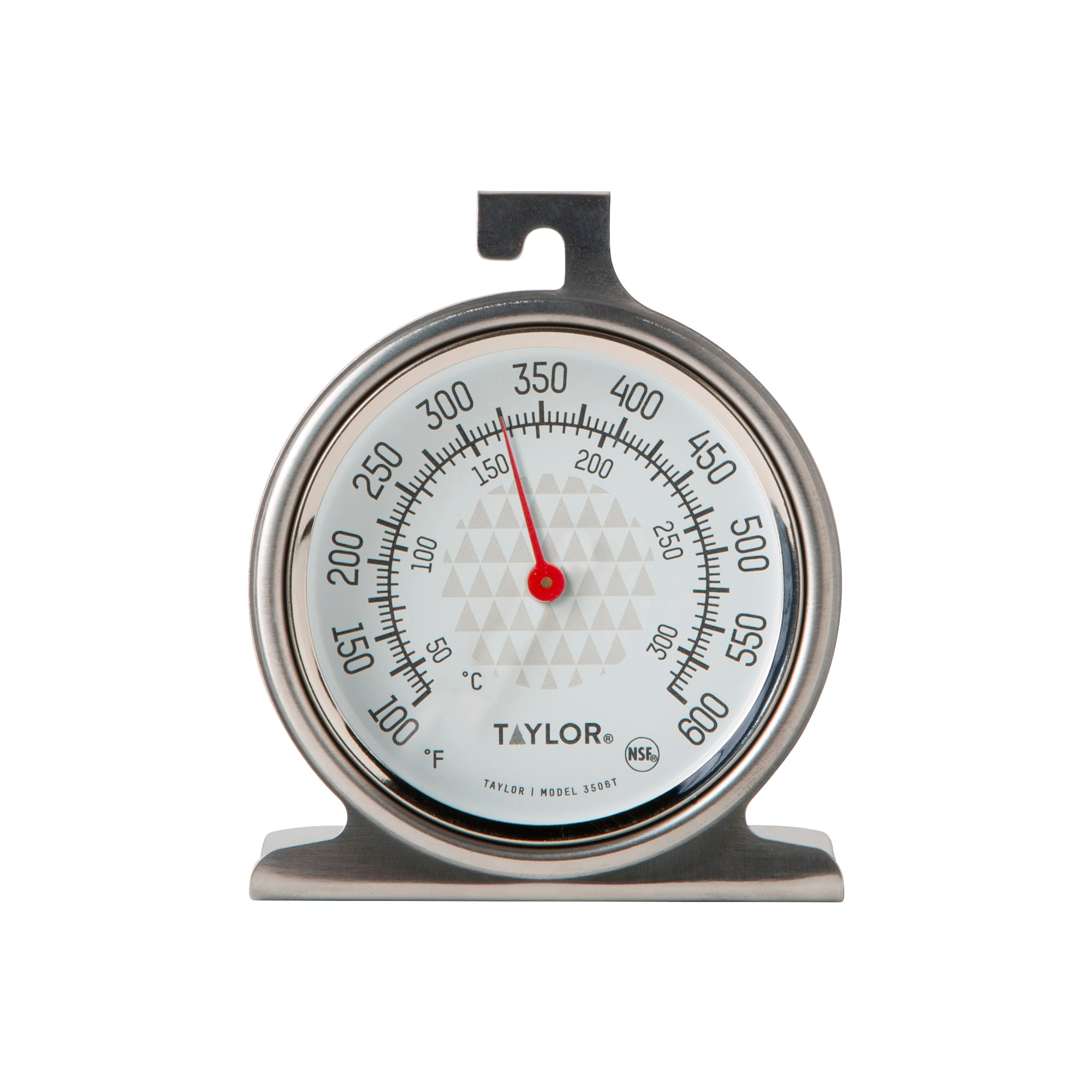Taylor Ambient Oven/Grill Temperature Thermometer, Silver