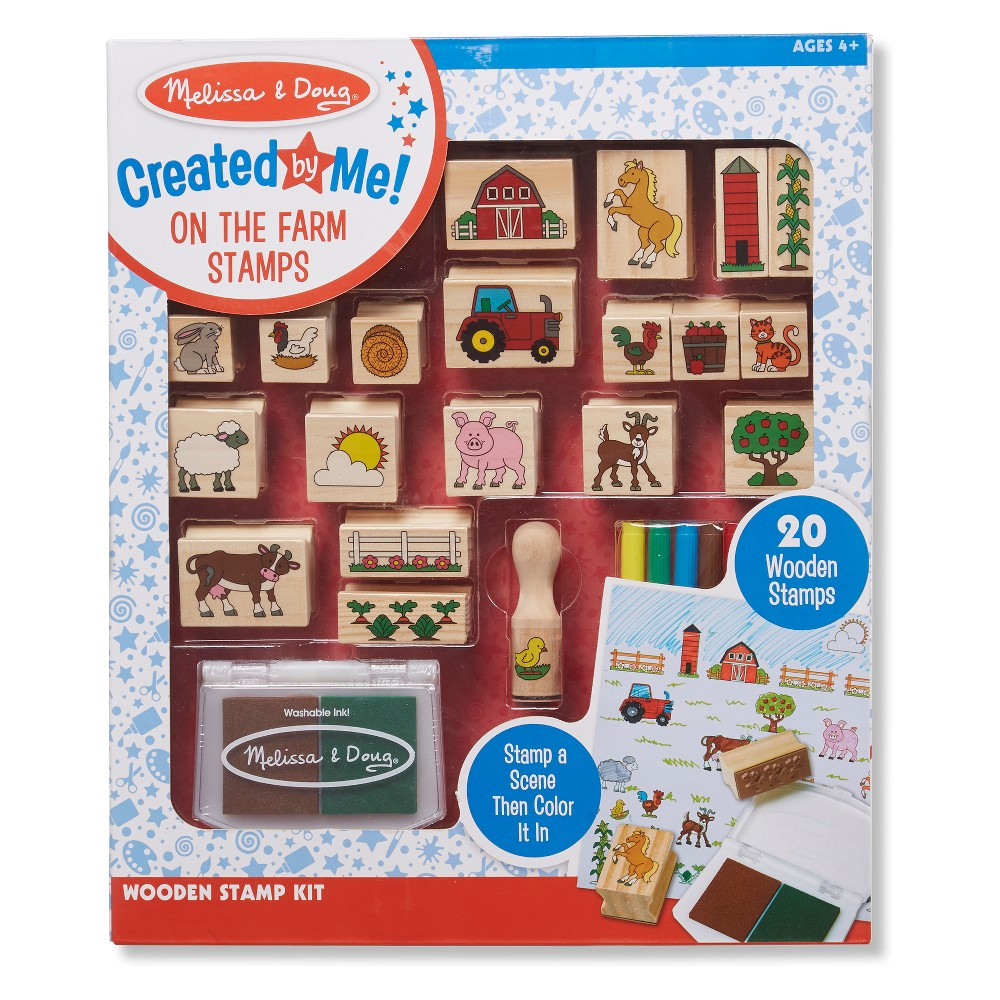 Melissa and Doug Farm Stamp-a-Scene Stamp, Clear