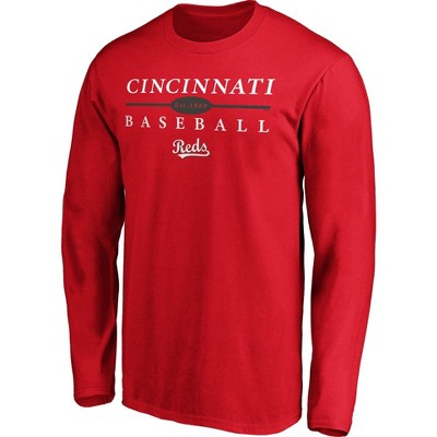 MLB Cincinnati Reds Men's Long Sleeve Core T-Shirt