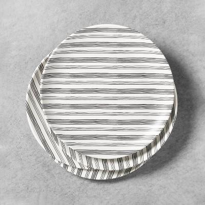 4pk Melamine Dinner Plate Railroad Gray Stripe - Hearth & Hand™ with Magnolia