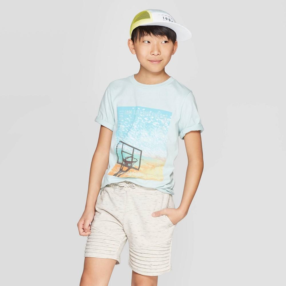 Image of Boys' Knit Moto Shorts - art class White L(12-14), Boy's, Size: Large(12-14)