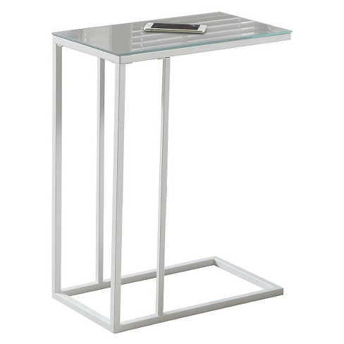 Accent Table with Mirror Top - White - EveryRoom - image 1 of 2
