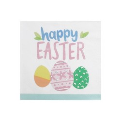 20ct Premium Happy Easter Beverage Napkins With Foil - Spritz™