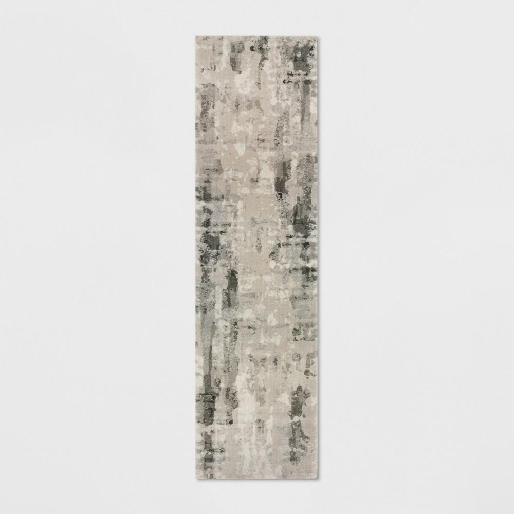 Opus Marble Runner Rug Ivory/Gray
