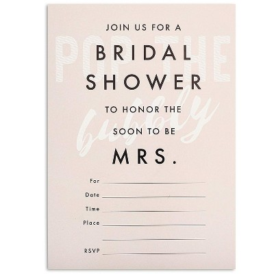 "Sparkle and Bash 36-Pack Pink ""Join Us For A Bridal Shower"" Party Invitation Cards with Envelopes 5x7 in"