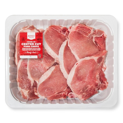 Bone-in Pork Chop Family Pack - price per lb - Market Pantry™ - image 1 of 1