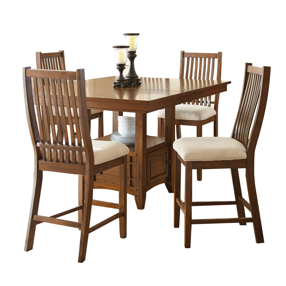 Kobi Counter Height Dining Table Oak (Brown) - Steve Silver