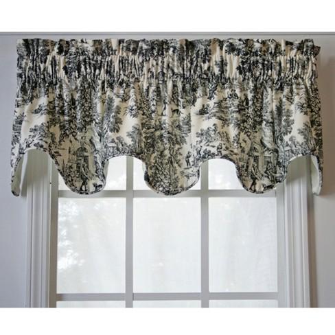 Ellis Curtain Victoria Park Toile High, Black Toile Curtains