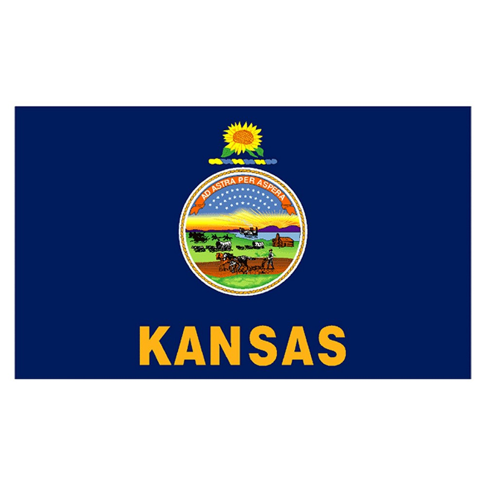 Image of Halloween Kansas State Flag - 4' x 6'