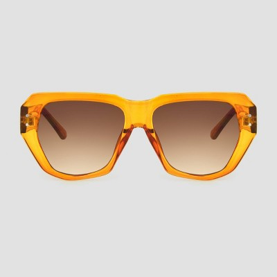 Women's Square Sunglasses with Orange Gradient Lenses - A New Day™ Orange