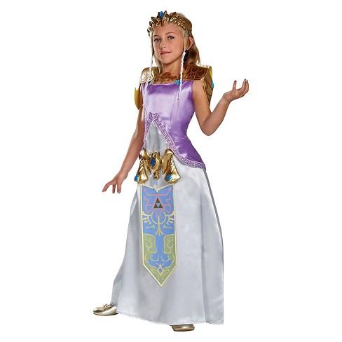 Girls Legend Of Zelda Princess Deluxe Costume Target