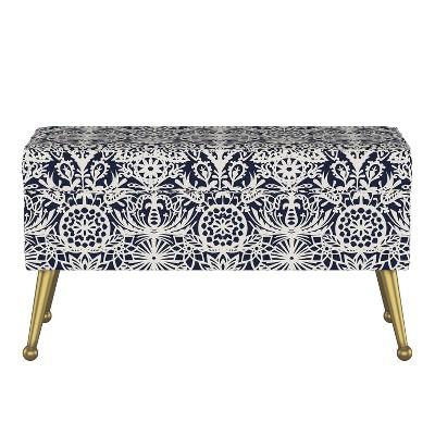 Jayda Storage Bench with Splayed Aranjassa Navy - Opalhouse™