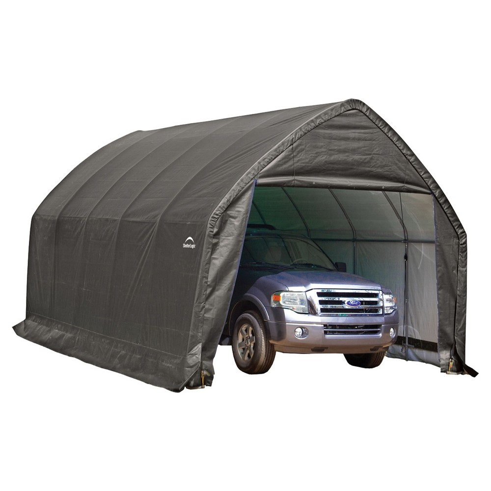 Garage - In - A - Box 13' X 20' X 12'Peak Style For Suv, Truck - Gray - Shelterlogic