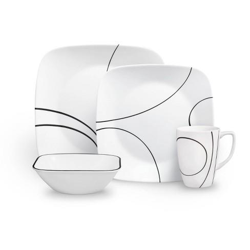 Corelle Square 16pc Dinnerware Set Simple Lines - image 1 of 4
