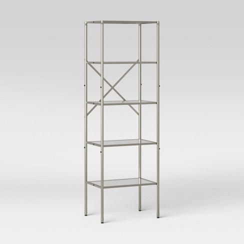 Metal Glass Linen Tower Brushed Nickel Threshold Target