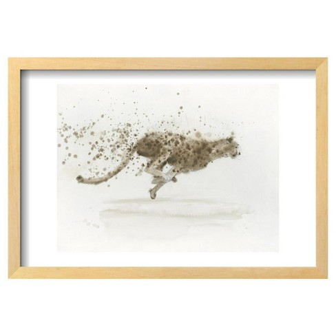 "Cheetah V.2 By James Wiens Framed Poster 19""X13"" - Art.Com - image 1 of 3"