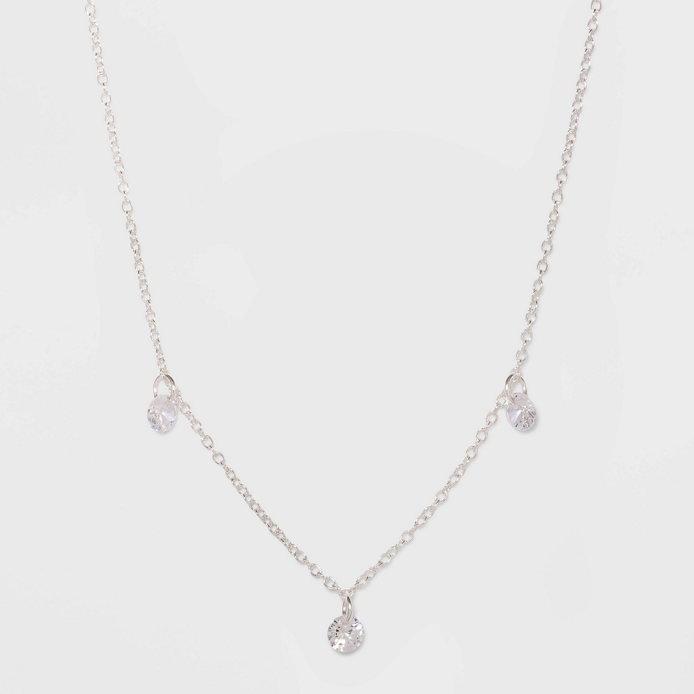Sterling Silver with Cubic Zirconium Necklace - A New Day Silver
