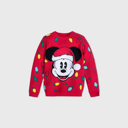 Boys' Disney Mickey Mouse Sweater - Red - Disney Store - image 1 of 3