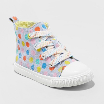 Toddler Girls' Jory High top Canvas Sneakers - Cat & Jack™ Gray 5