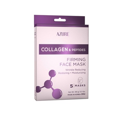 Azure Skincare Collagen and Peptides Sheet Mask - 5ct