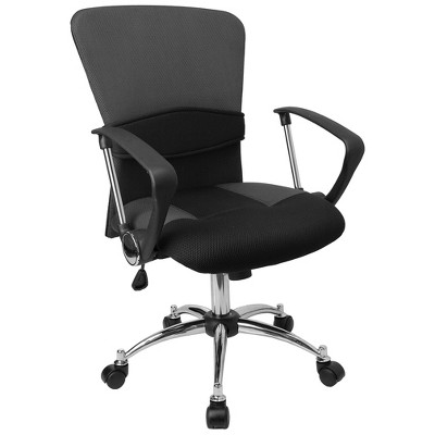 Emma and Oliver Mid-Back Mesh Swivel Task Office Chair with Adjustable Lumbar and Arms