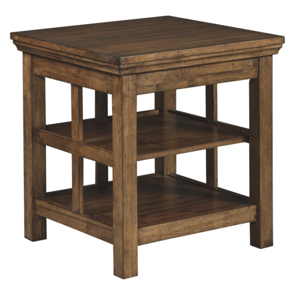 Flynnter Square End Table Medium Brown - Signature Design by Ashley