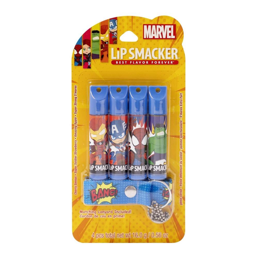 Lip Smacker Lanyard Lip Balm Marvel 4pc 0 56oz