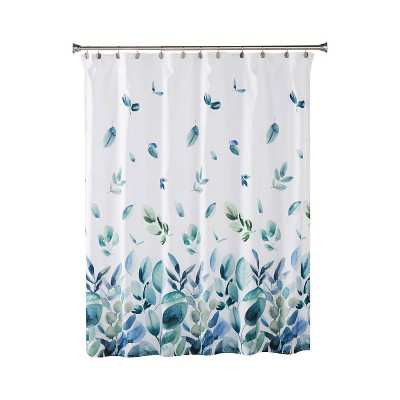 Ontario Fabric Shower Curtain Green - SKL Home