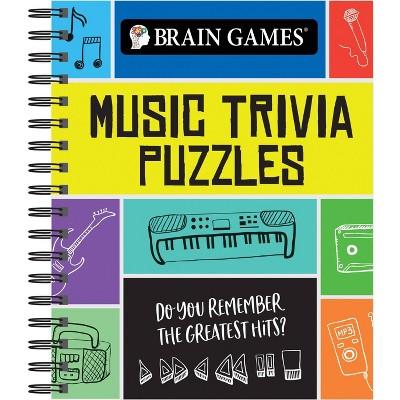 Brain Games Music Trivia Puzzle (Spiral Bound)
