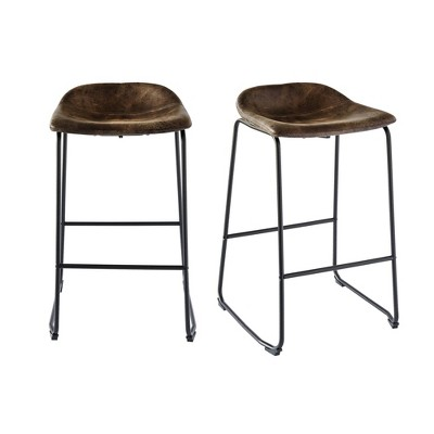 2pc Galloway Metal Barstool Set - Picket House Furnishings