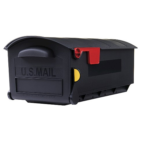 Gibraltar Plastic Large Size Post Mount Mailbox Black - image 1 of 3