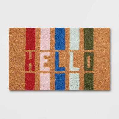 "1'6""x2'6"" Hello Stripe Doormat - Room Essentials™"