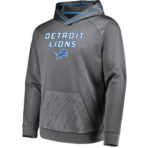 NFL Detroit Lions Men s Geo Fuse Gray Embossed Performance Hoodie ... 533e54f18