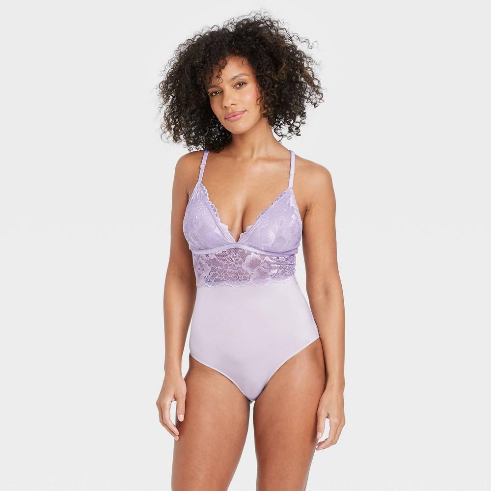 Women 39 S V Neck Bodysuit Auden 8482 Violet S