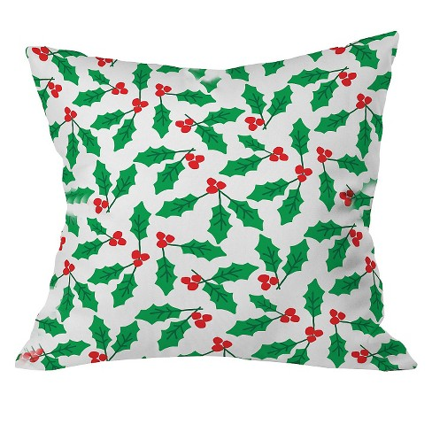 """20""""x20"""" Holly Day Throw Pillow Green - Deny Designs - image 1 of 2"""