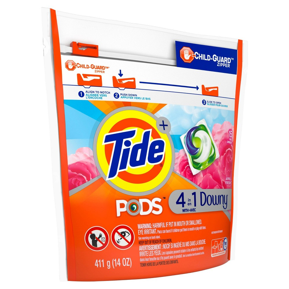 Tide Pods Laundry Detergent Pacs with Downy April Fresh - 15ct