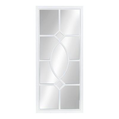 """13"""" x 30"""" Cassat Framed Wall Accent Mirror White - Kate and Laurel"""