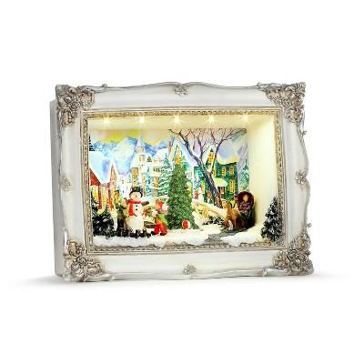 Mr. Christmas Animated Shadow Box Scene Animated Musical Christmas Decoration - Village